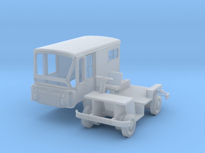 HO-Scale Jeep FJ-3 Postal Delivery FleetVan 3d printed