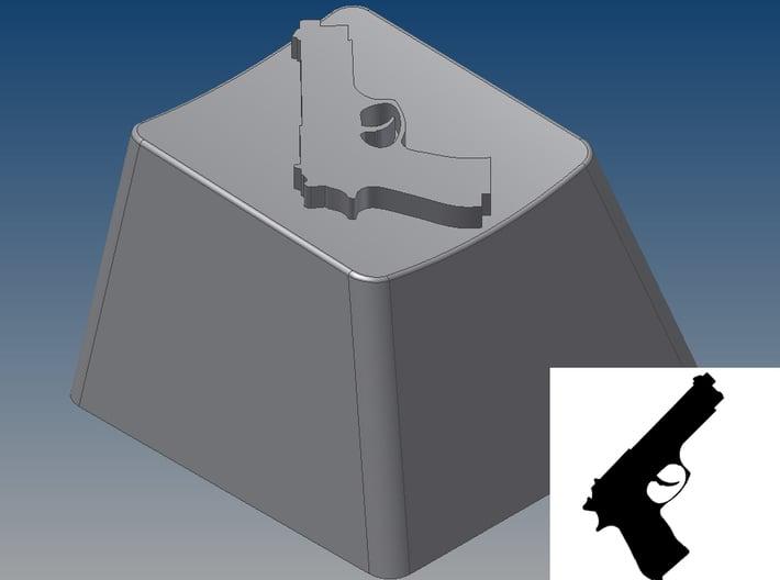 Pistol Keycap (R4, 1x1) 3d printed