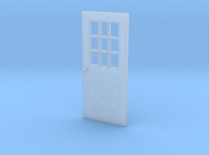 1:64 scale Exterior door with cross pattern 3d printed
