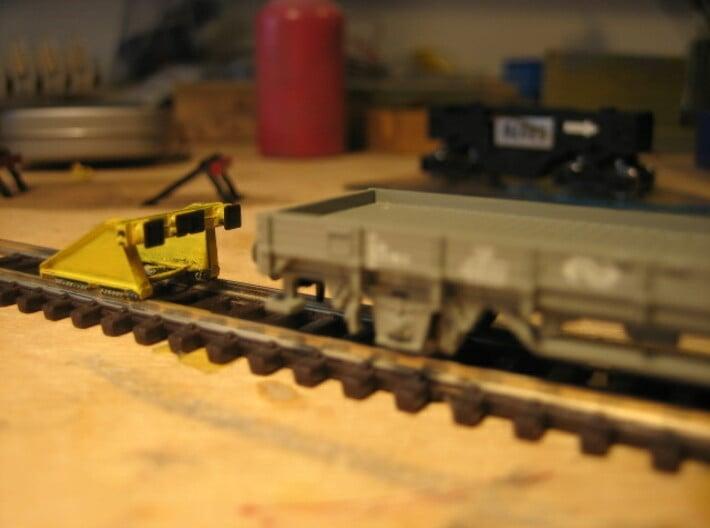 N RAWIE stootjuk (3 stuks) 3d printed Bovenop PECO code55 rails