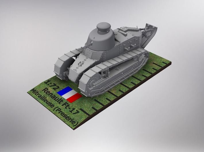 1/72nd scale Renault Ft-17 Char Mitrailleuse pre 3d printed