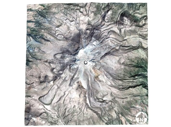 "Pico de Orizaba / Citlaltépetl Map: 6"" 3d printed"