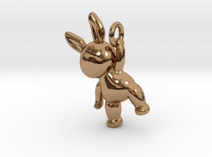 Rabbit Pendant ( 32mm ) 3d printed