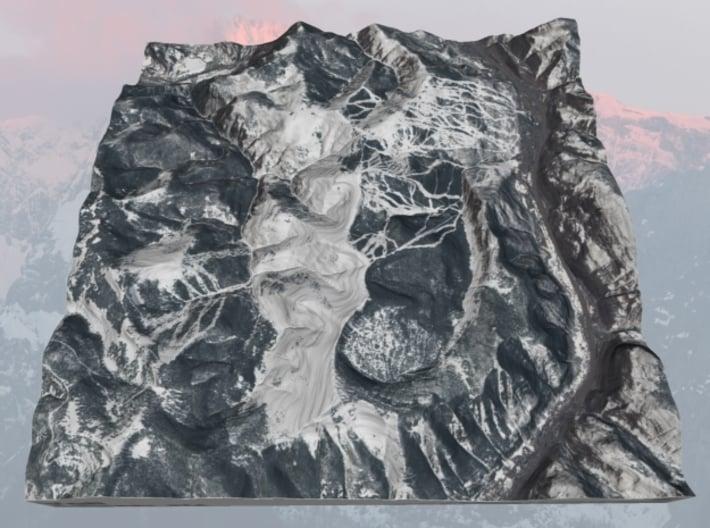"""Vail, Colorado - Winter: 9""""x9"""" 3d printed"""