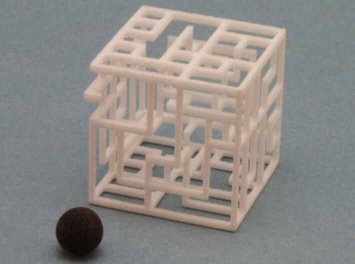 Zig Zag Zog 555 3d printed 5x5x5 Maze with Ball