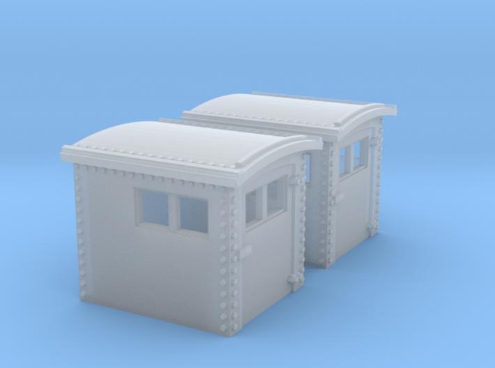 N&W Style Dog House HO Scale 1:87 x2 3d printed