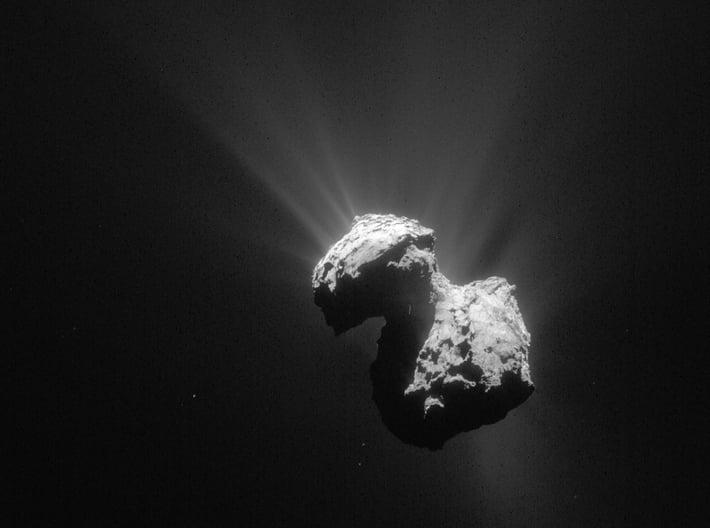 Rosetta Mission Comet 67P Pendant 3d printed actual photo from Rosetta spacecraft