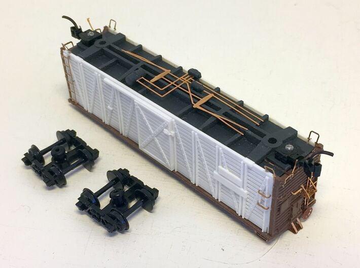 ATSF STOCKCAR Sk-2, 3 and 5, floor 3d printed stockcar underbody detail