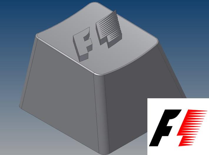 Formula 1 Keycap (R4, 1x1) 3d printed