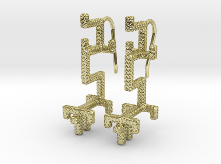 GOLDEN DRAGON Earrings 3d printed