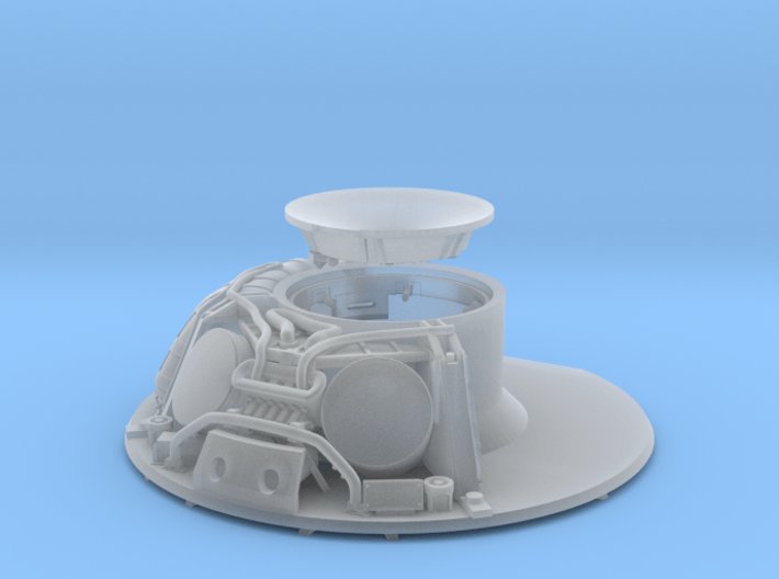 CM parachute compartment-cutaway version 3d printed