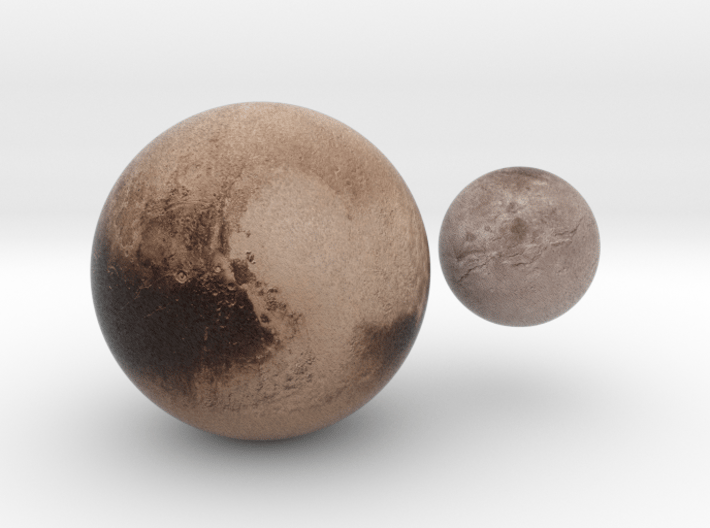 Pluto & Charon - 13 July 3d printed