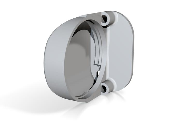 Katana oval hilt - 28mm Speaker 3d printed