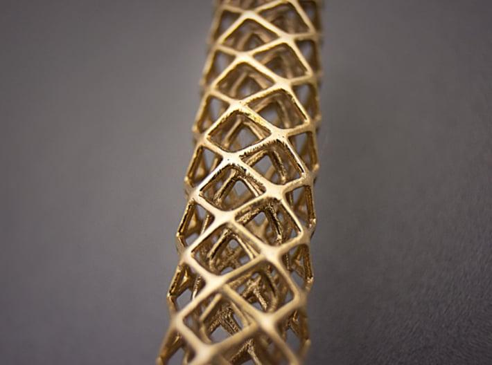 Pendant 002 3d printed Raw Bronze