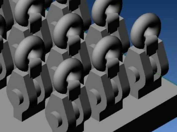 4type RiggingBlocks for 1:200~1:144 ship model 3d printed