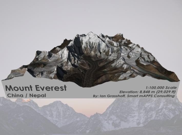 "Mount Everest Region: 8""x10"" 3d printed"