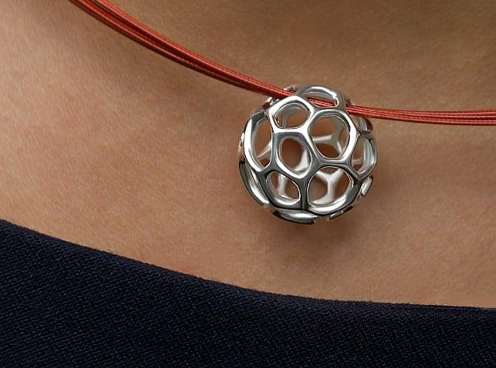 Gaia-25-deep (from $19.90) 3d printed Gaia-25, premium silver