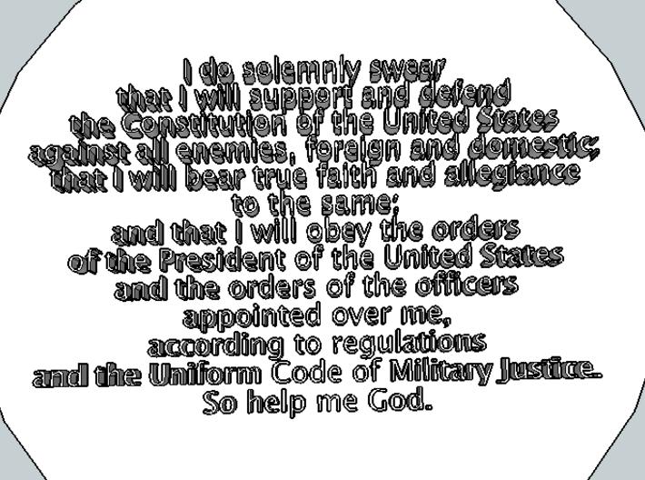 U.S. Soldier Pendant 3d printed Back
