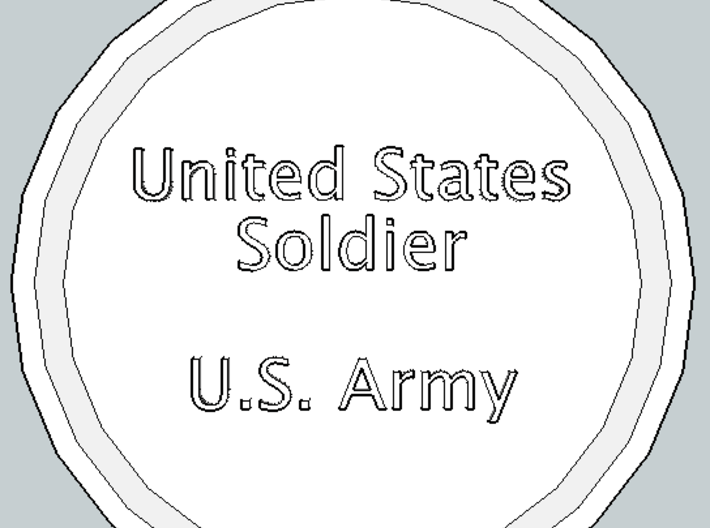 U.S. Soldier Pendant 3d printed Front