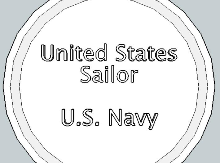 U.S. Sailor Pendant 3d printed Front