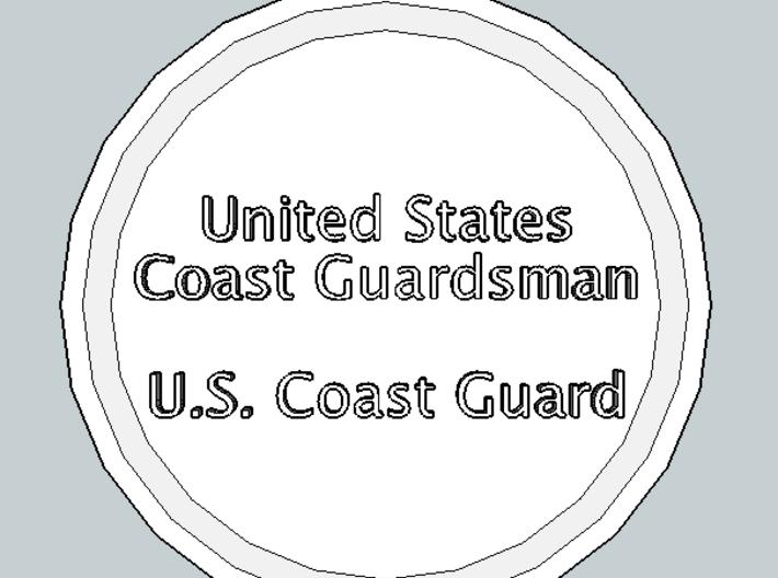 U.S. Coast Guardsman Pendant 3d printed Front