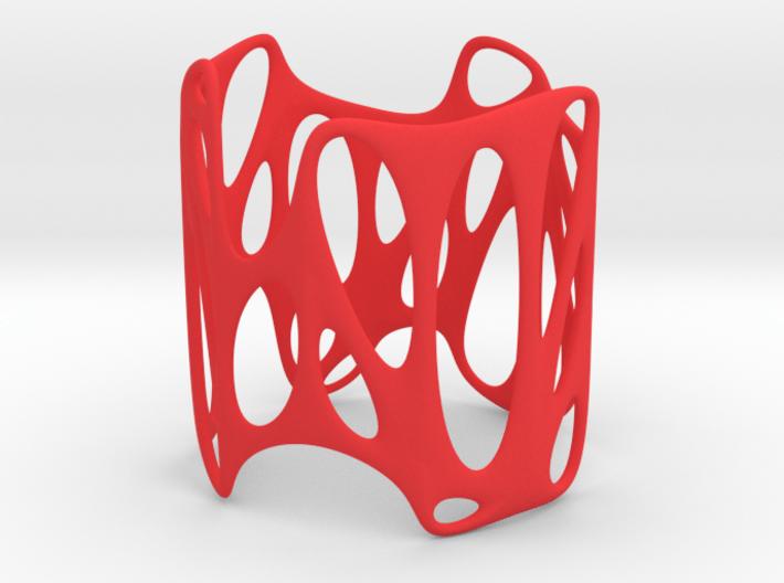 Voronoi Wire Bracelet (001) 3d printed