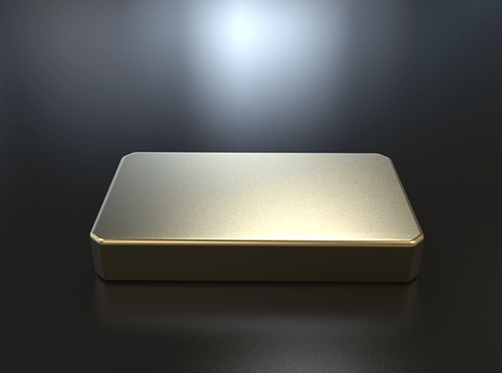 The Gold Bar 3d printed