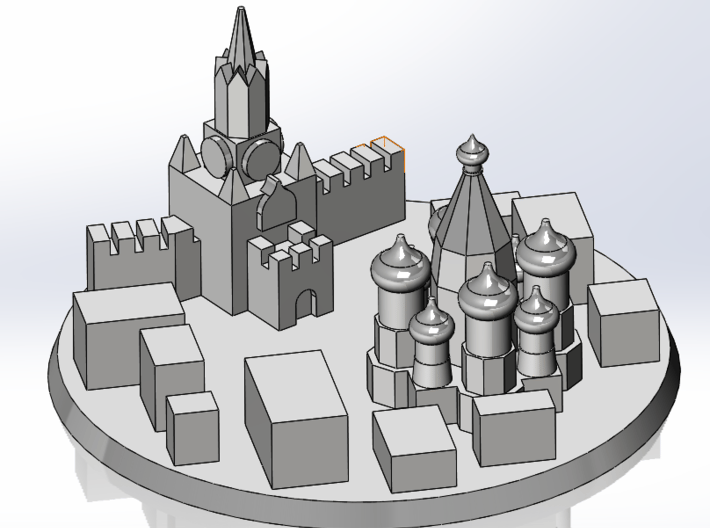 Moscow City Marker 3d printed