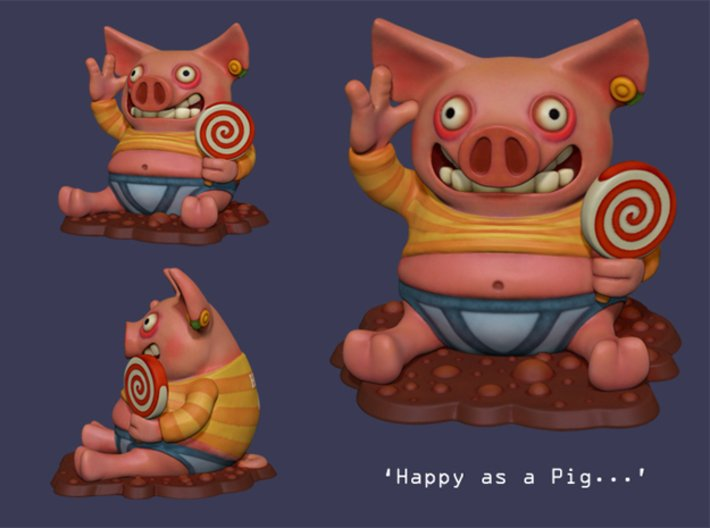 Happy as a Pig... 3d printed
