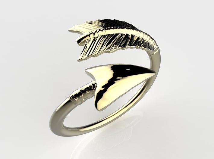 Spiral Arrow Ring 3d printed RENDER