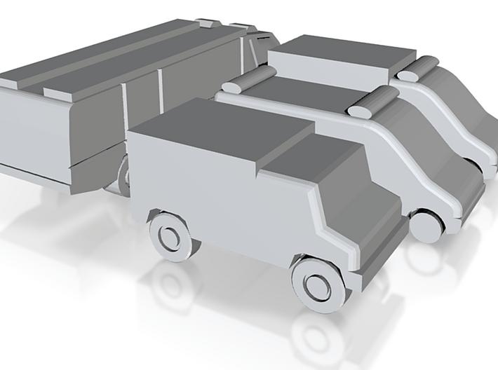 Airport GSE 1:400 Set 7 : Firetruck & Ambulance 3d printed