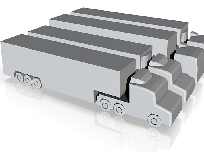 Airport GSE 1:400 Set 8 : Trailer Truck 3d printed