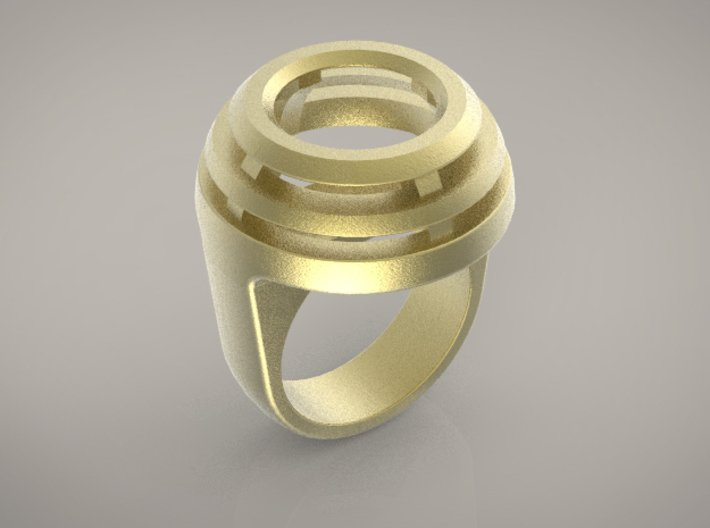 DOME RING - SIZE 8 3d printed
