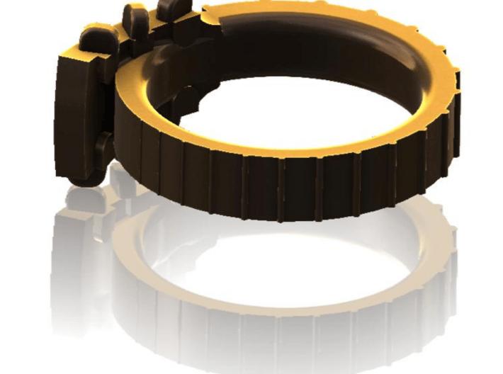 Folk Guitar Ring Size 8 3/4 3d printed