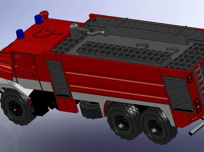 Zetros 6x6 Feuerwehr RW 1:120 3d printed