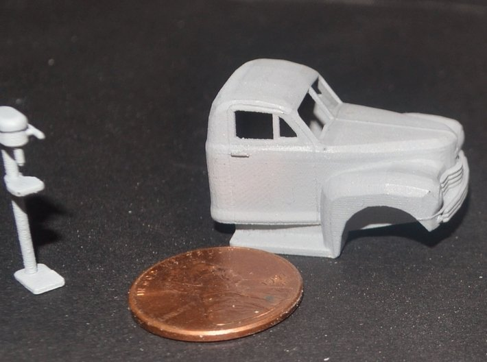 1949 Nash Truck 2 Ready For Shapeways 3d printed Primed