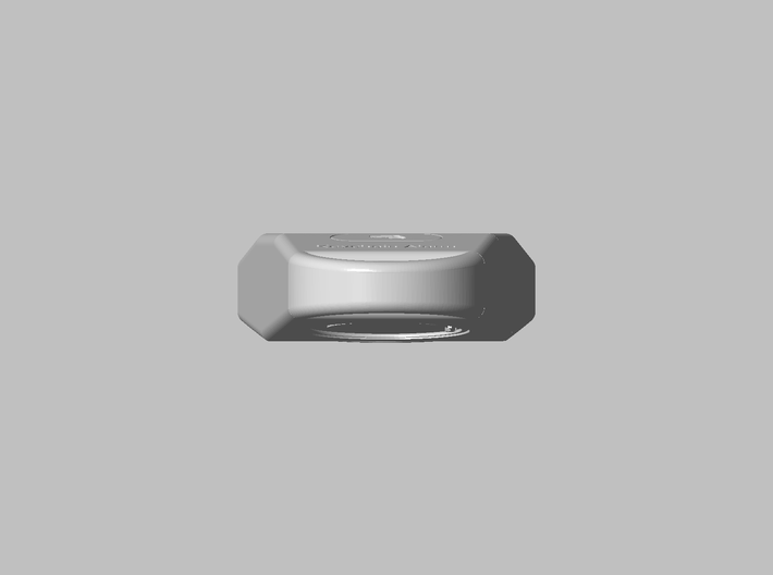 Key-chain Light housing 3d printed Back view