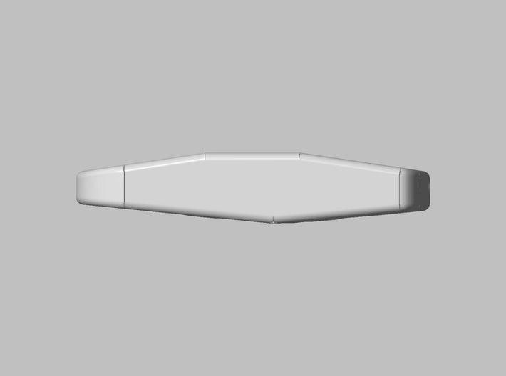 Key-chain Light housing 3d printed Side view