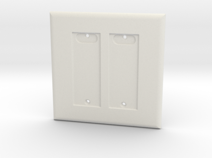 Philips HUE Double Dimmer 2 Gang Switch Plate 3d printed