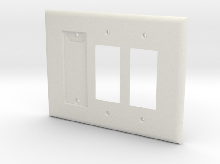 Philips Hue Single Dimmer Plate Left 3 Gang Decora 3d printed