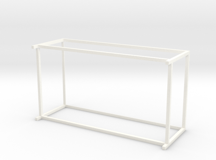 Lounge Table square, rectangular 1:12 3d printed