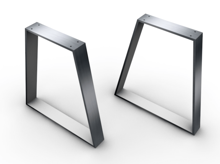 Table legs Trapeze (pair). 1:12, 1:24 3d printed This is a sample - will upload pix when printed and table assembled..