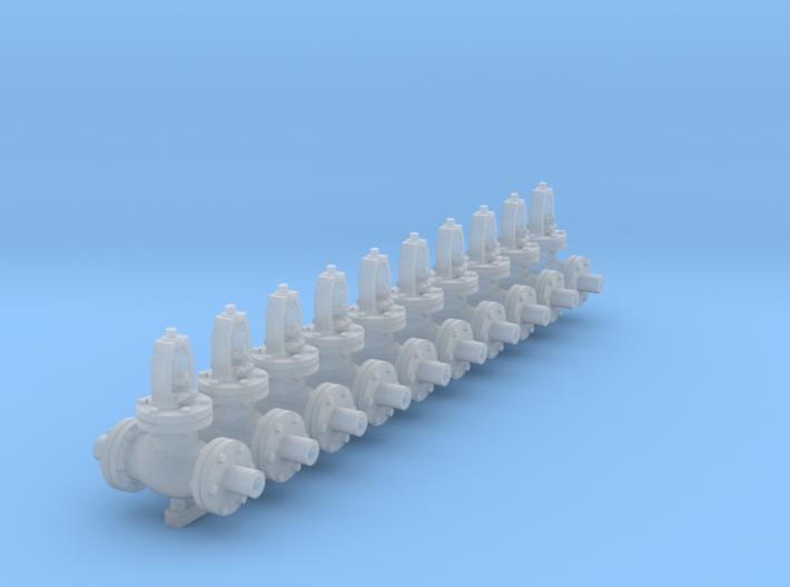 1:48 6 inch Globe Valves 10ea 3d printed