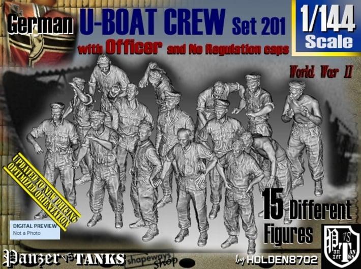 1/144 German U-Boot Crew Set201 3d printed