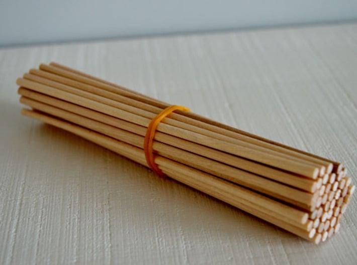 1:12 Chair v1 wooden legs 1 3d printed Gebruikte houten stokjes voor de poten