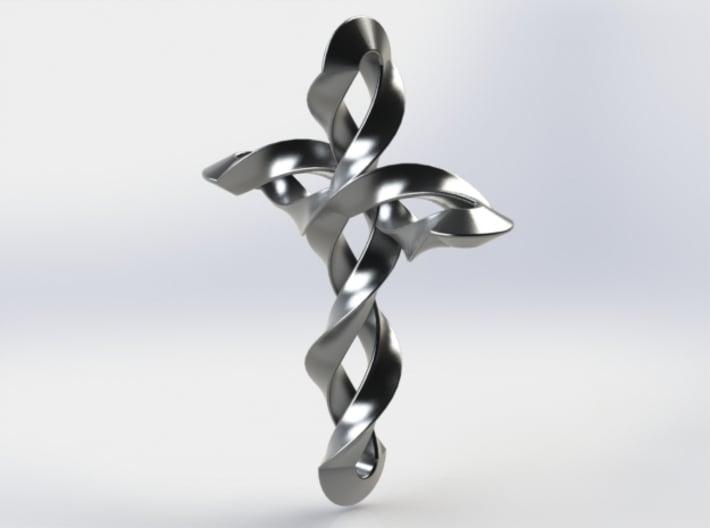 Helix Cross Pendant 3d printed