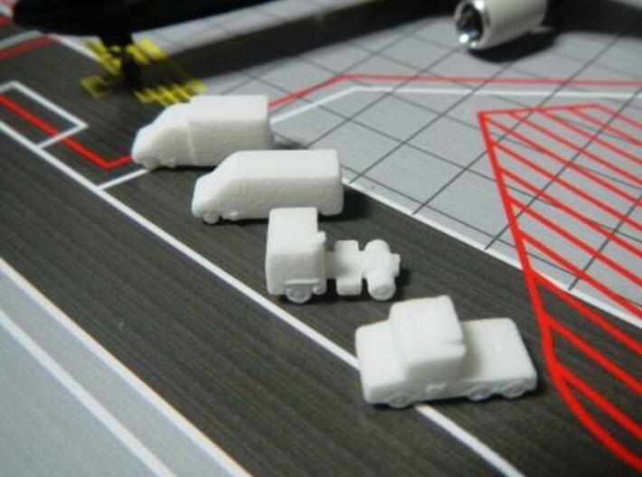 Airport GSE 1:400 Set 10 : Stair, Van & Truck 3d printed