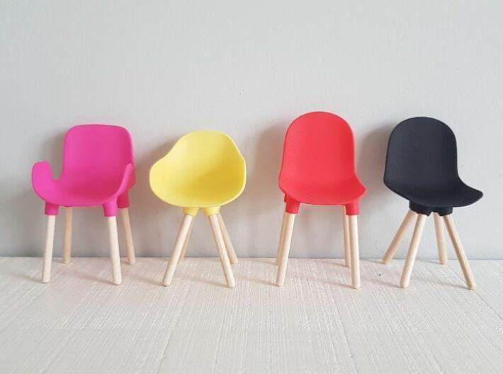 1:12 Chair v1 wooden legs 1 3d printed Kleur voorbeelden