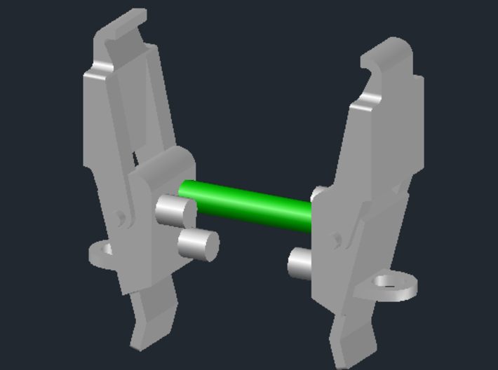 1:8 BTTF DeLorean Flux Capacitor set 2 of 2 woG 3d printed When cutting the sprue that holds the parts together remove only the part indicated in green.