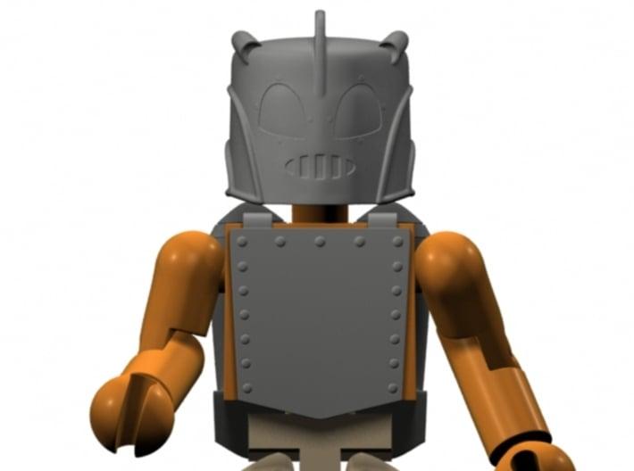 Rocketeer Helmet & Jetpack for Minimates (w/front  3d printed